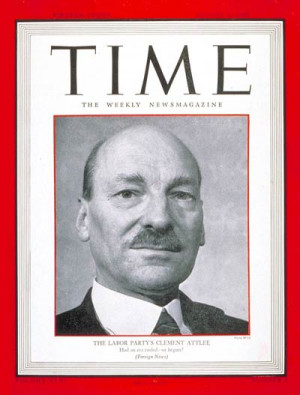 British Labor Party leader Clement R. Attlee