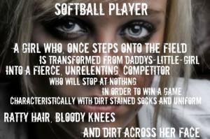 quote softball true work hard play hard