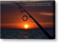 Fishing Quotes Canvas Prints - Fishing Pole 2A Canvas Print by Miss ...