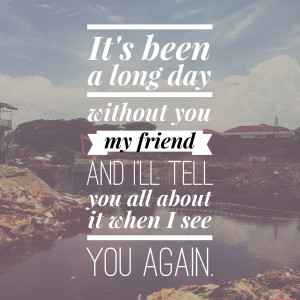 scattered-heart:See you again - Wiz Khalifa feat. Charlie Puth.This ...