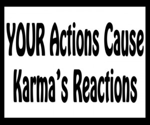 Oh the karma that's waiting for you ;) get what you give lmao