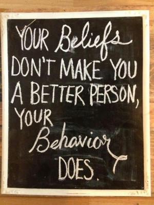 Beliefs vs. Behavior