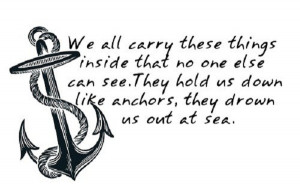 Best thing to do is to let go of those anchors that weigh you down!