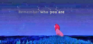 Simba Remember Who You Are Quote Yes there are things i would
