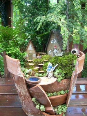 ... ://www.etsy.com/listing/98131287/fairy-garden-broken-planter-kit Like