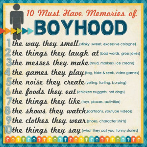 10 Must-Have Memories of Boyhood :: Tracy shares inspiration for ...
