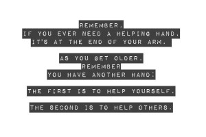 Helping Hand Picture Quote - MLQuotes