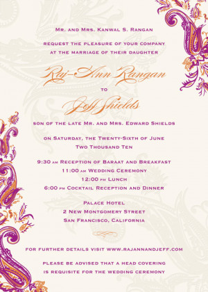 Filed in: Indian Wedding Invitation Wording