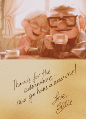 love couple cute quote UP old Ellie thanks adventure go have a new one