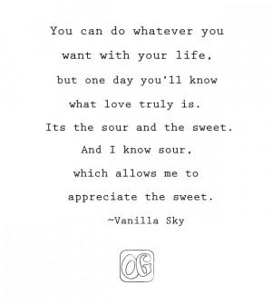 Vanilla Sky Quotes