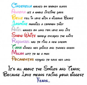 Disney Princess Disney love quotes. :)