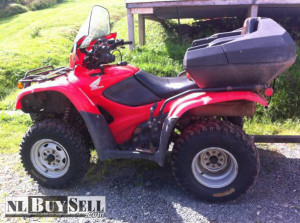 2009 honda 420 fourtrax excellent condition windshield