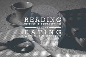 ... eating without digesting. -Edmund Burke {Inspirational Reading Quotes