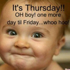 Wow, its amazing how we all get so excited on thursday knowing the ...