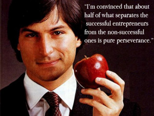 ... entrepreneurs from the non-successful ones is pure perseverance