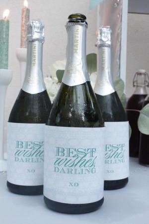 ... Shower-Breakfast at Tiffany's shower; custom champagne bottle