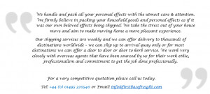 House removals Namibia quote