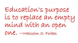 Education's purpose