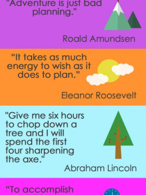 Inspirational Planning Quote Infographic