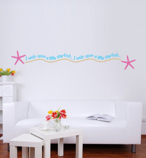 Wish Upon A Starfish Quote - Beach Quote - Seashore Quote - Pink, Blue ...