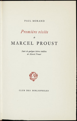 ... Paul Morand. - [Genève] : Club des bibliophiles, 1948. - 57 p. ; 26