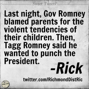 So, clearly, Romney is to blame for
