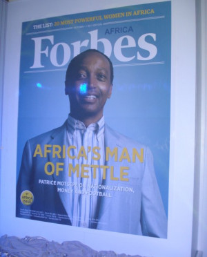 Patrice Motsepe on the cover of the launch edition of Forbes Africa