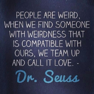 Weird friends. Dr seuss