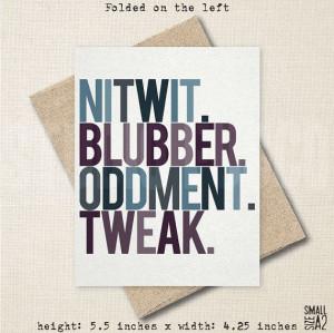Dumbledore #Nitwit #Blubber #Oddment #Tweak #HarryPotter #Quote #Fun ...