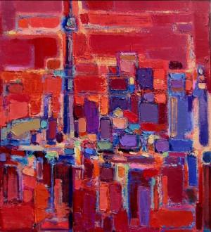 Toronto Cityscape - Olga Konoschuk - Expressionist Artist