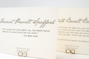 romantic quote table cards table number cards that share your love ...