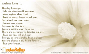 Endless Love Quotes http://www.4minutesperday.com/page/176