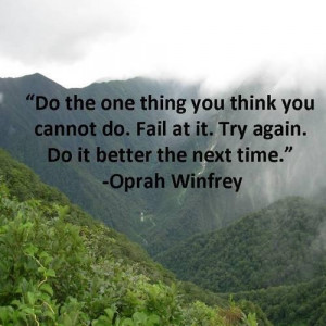 Oprah's take on failure