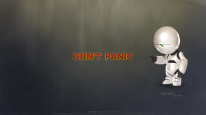 Don't Panic - Marvin by psychoduck