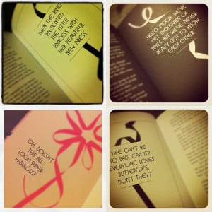 Girly Fashion Quotes Very much a girly-girls book!