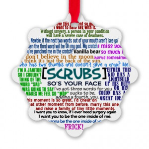 Drcox Gifts > Drcox Seasonal > Funny Scrubs Quotes Snowflake Ornament