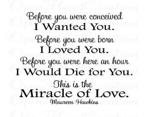 Before You Were Conceived I Wanted You - Nursery Wall Decal - Poem ...