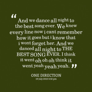 Quotes About: One direction best song ever