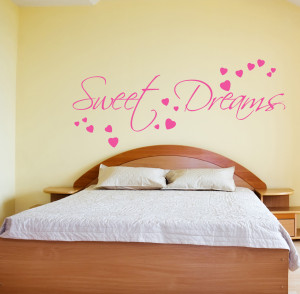 Details about SWEET DREAMS WALL STICKER ART DECALS QUOTES BEDROOM W43
