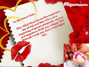 Beautiful EID Cards for Sister Happy EID Quotes