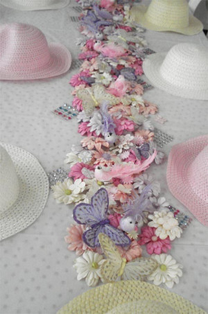 lovely tea party for little girls. Crafts: decorate hats & make candy ...
