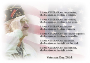 Veterans Poems Thank You