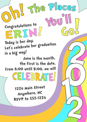 Oh, The Places You'll Go - graduation invitation. Kids Parties ...