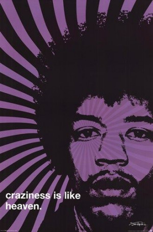 Jimi Hendrix - Craziness Poster