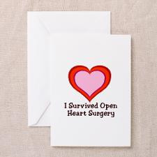 Survived Open Heart Surgery Greeting Cards (Pk o for