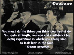 Verwandte Suchanfragen zu President roosevelt quotes on courage