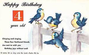 ... -Happy-Birthday-4-Year-Old-Postcard-w-Bible-Quote-Psalms-Bluebirds