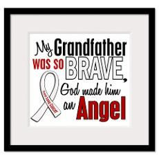 lung cancer quotes | Lung Cancer In Memory Of My Grandpa Framed Prints ...