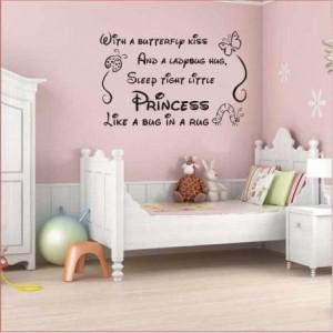 Art vinyl nursery baby decor girl princes wall decor.
