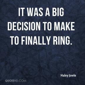 Big Decisions Quotes